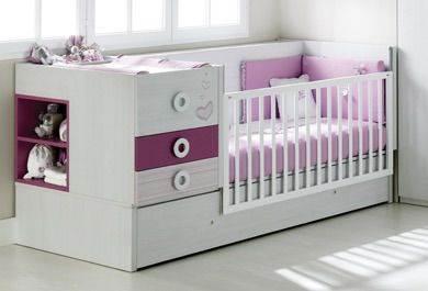 Cuna transformable en cama con cajones y mesa de estudio for Cama 70x140