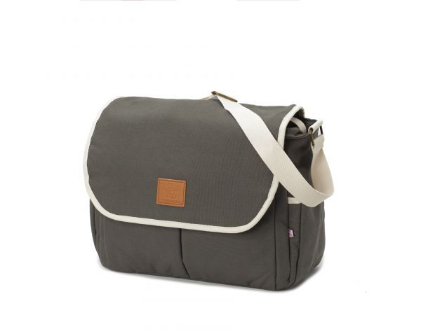 Bandolera-flap happy family grey