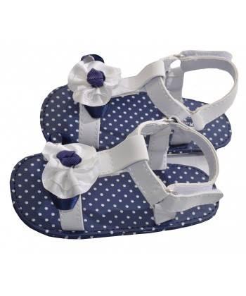 sandalia lunares blanco/marino
