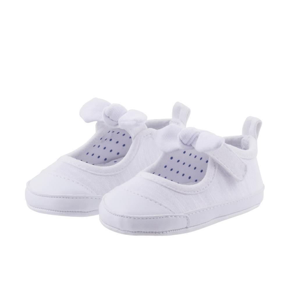 zapatillas lazo blanca