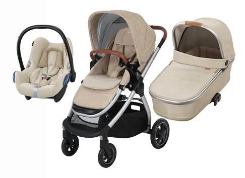 Bebe Confort ADORRA coche trio con cuco ORIA y CABRIO  Nomad sand