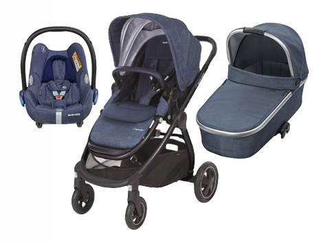 Bebe Confort ADORRA coche trio con cuco ORIA y CABRIO  Nomad blue