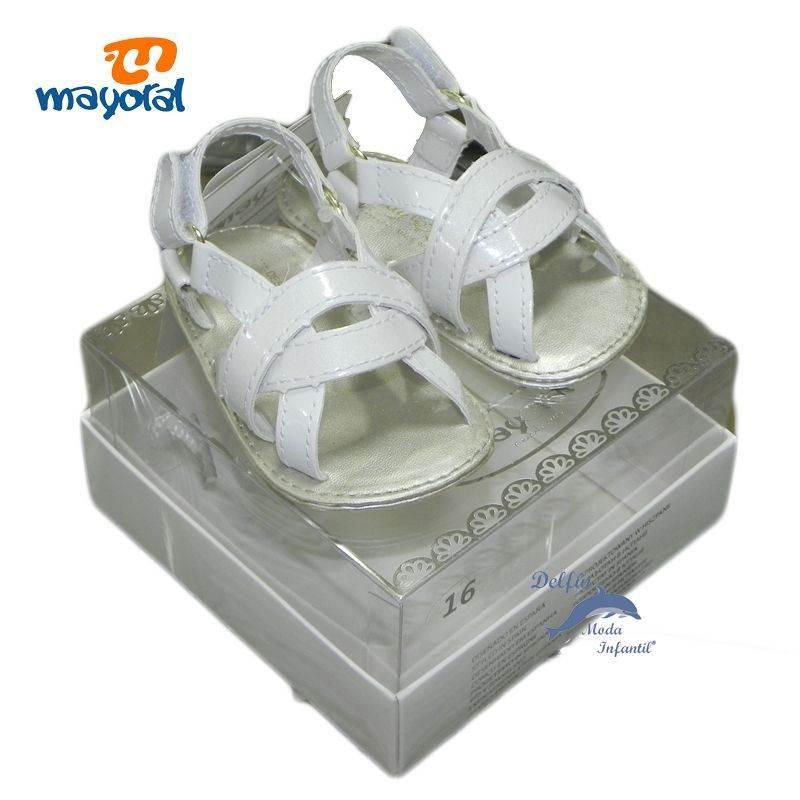 sandalia charol blanco