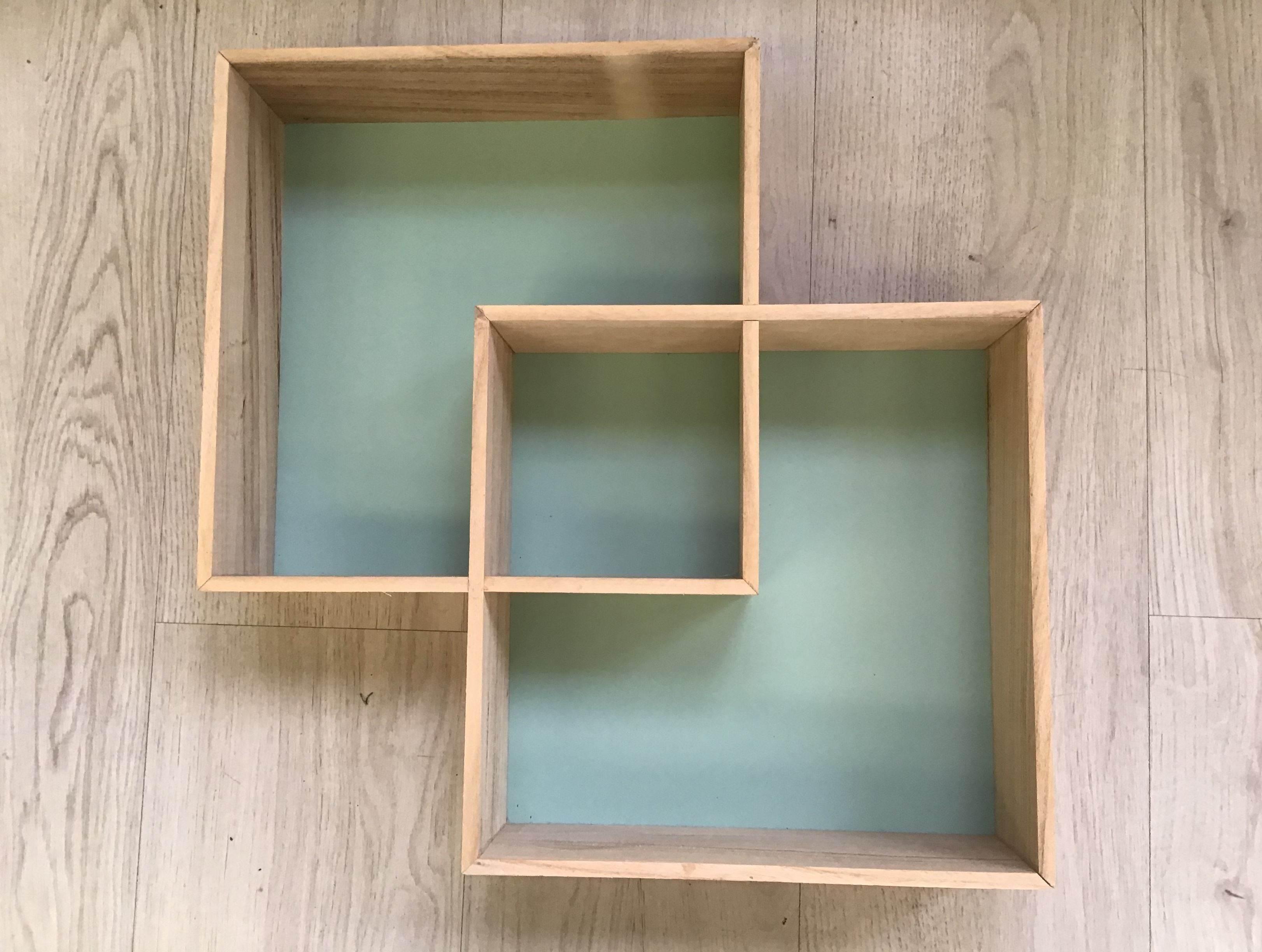 Estanteria pared madera 45x45x9