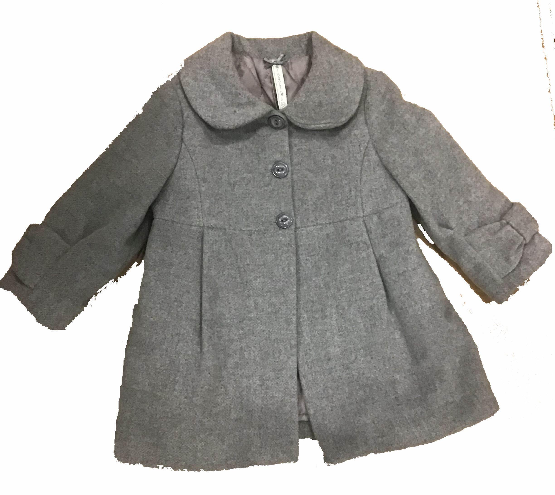 abrigo paño gris 9 meses