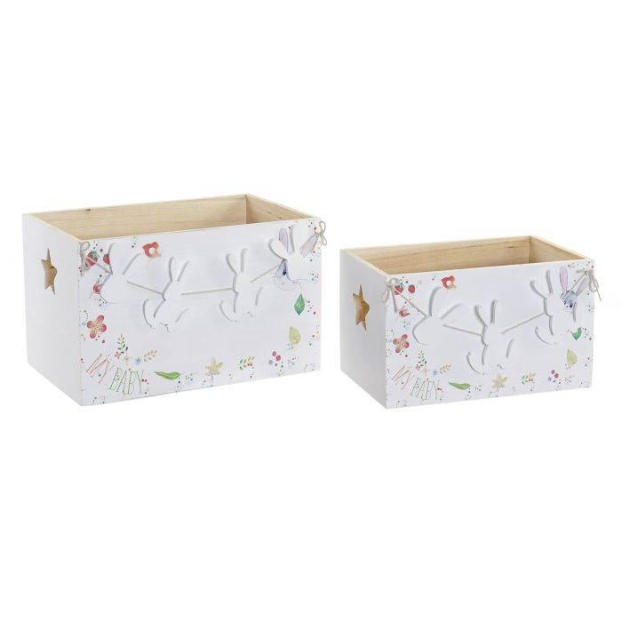 Cajas de madera Conejito blanco