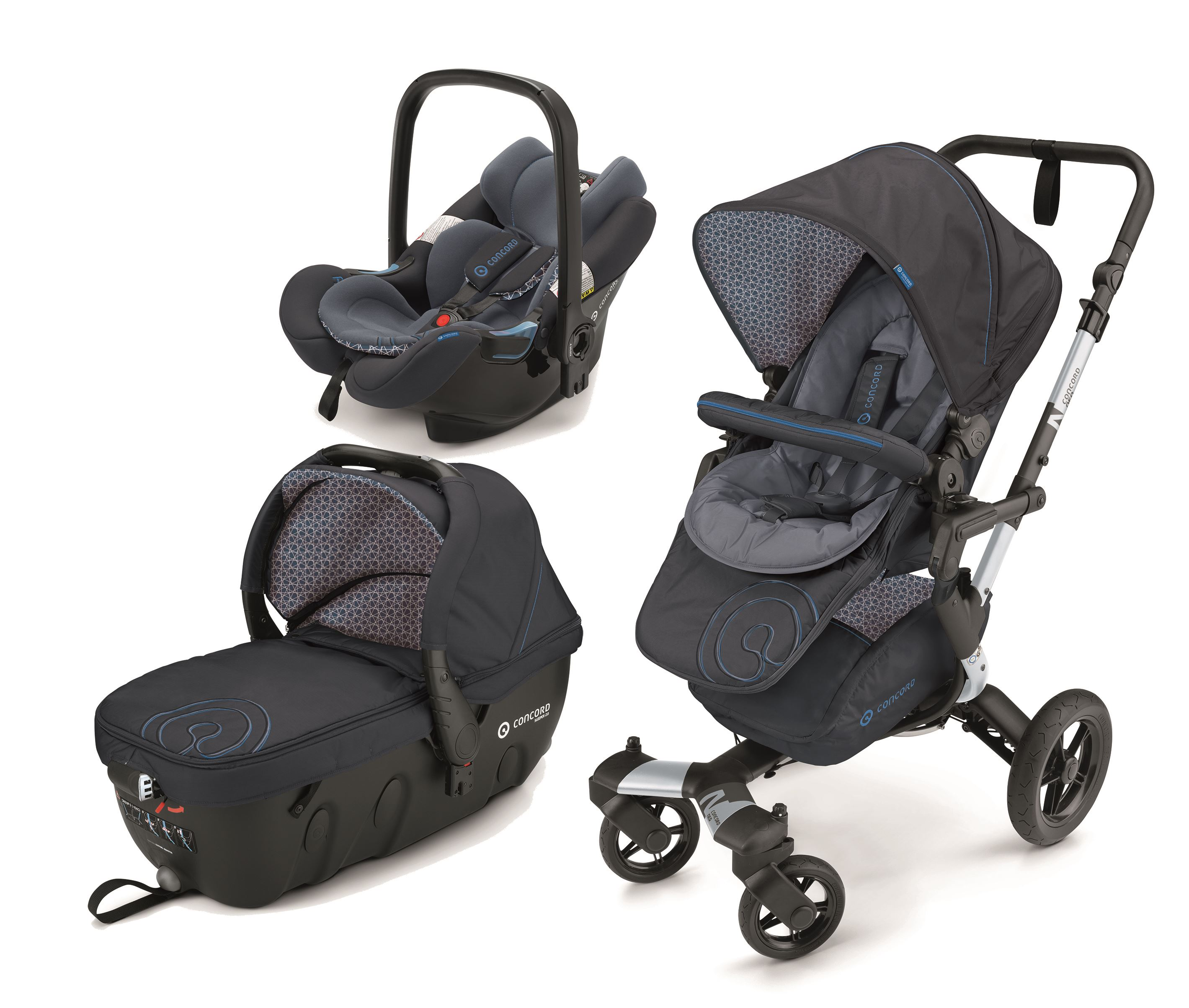 NEO TRAVEL-SET coche trio capazo homologado automovil con base Isofix
