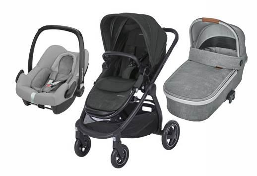 Bebe Confort ADORRA coche trio con cuco ORIA y ROCK  Black- Grey