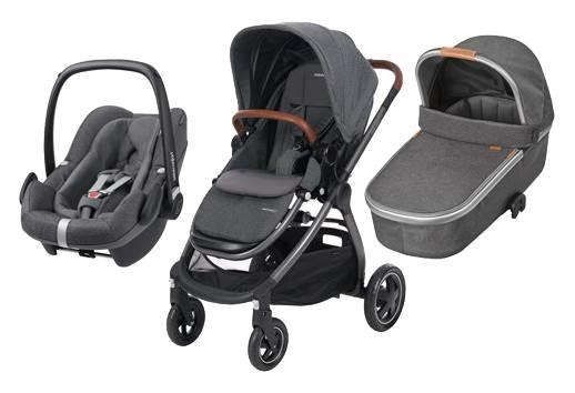 Bebe Confort ADORRA coche trio con cuco ORIA y PEBBLE PRO  I-Size Sparkling Grey