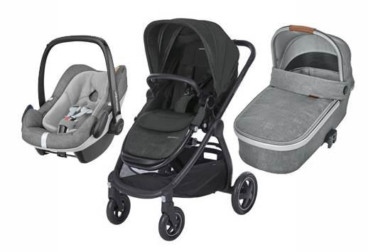 Bebe Confort ADORRA coche trio con cuco ORIA y PEBBLE PLUS  I-Size Black-Grey