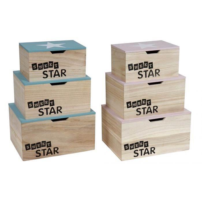 Caja madera SWEET STAR
