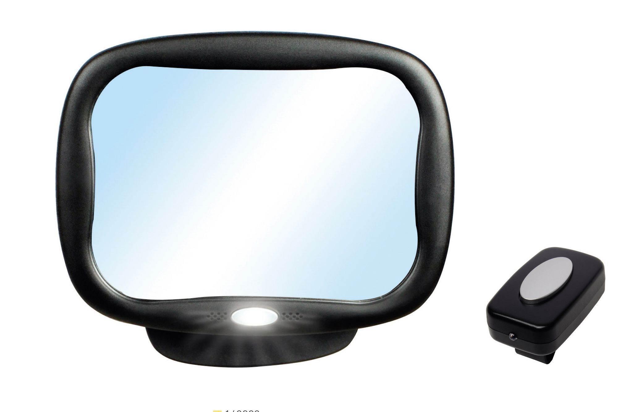 espejo retrovisor con luz