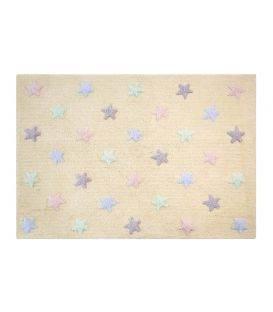 alfombra lavadora estrellaTtricolor vainilla