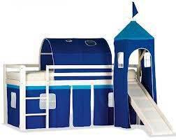 Cama alta tobogan castillo azul