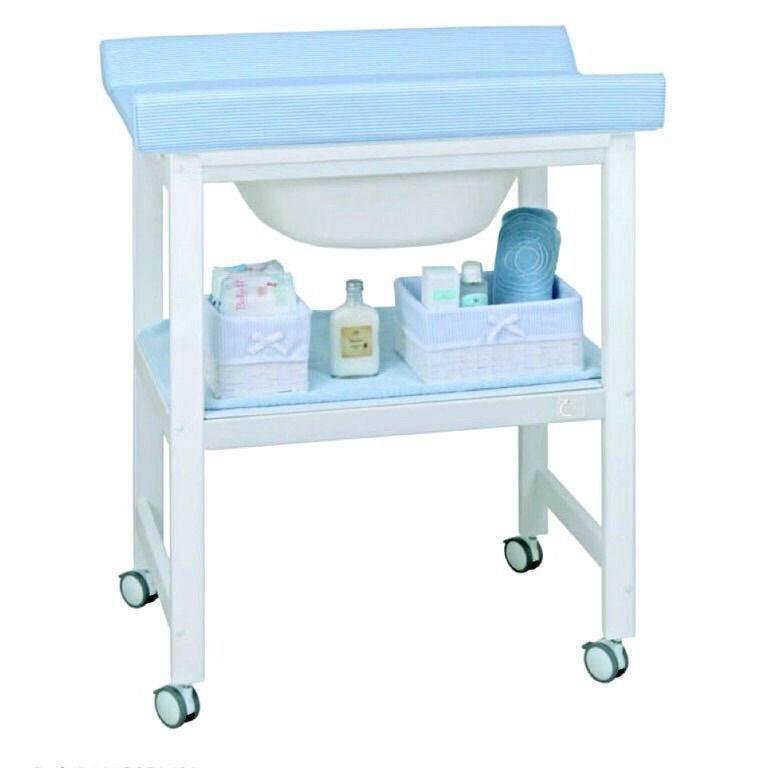 bañera cambiador 1 estante. Lacada blanco