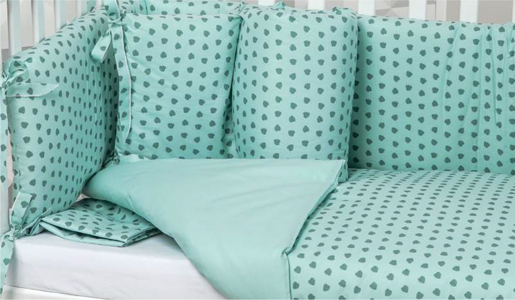 Corazones verde