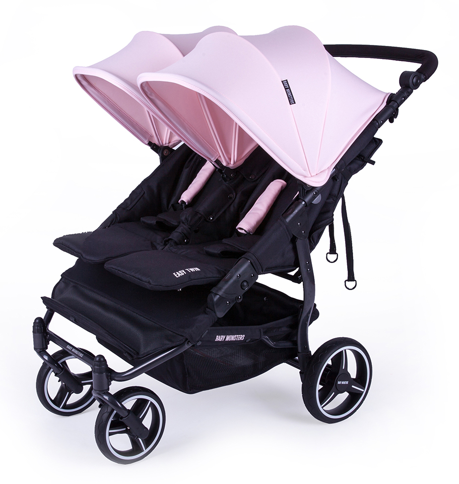 Easy twin 3S Coche gemelar chasis NEGRO  2 capazos+2 sillas