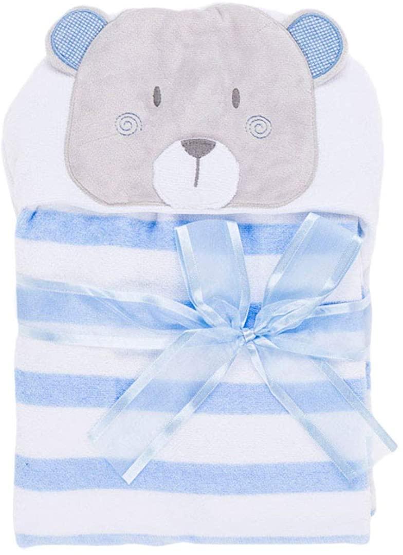Capa baño oso azul