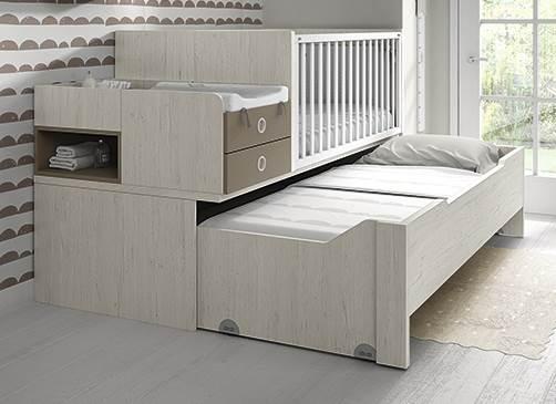 Cuna convertible 70x140 a cama de 90x190 con mesa de for Cama 70x140