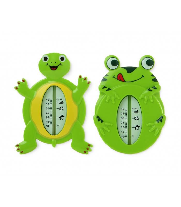 Termómetro de baño con forma de ranita o tortuga.