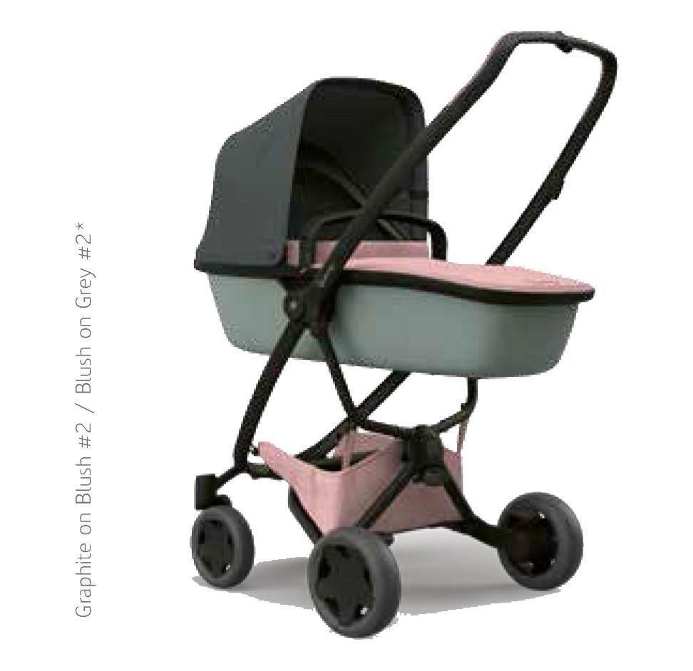 coche ZAPP FLEX rosa-gris