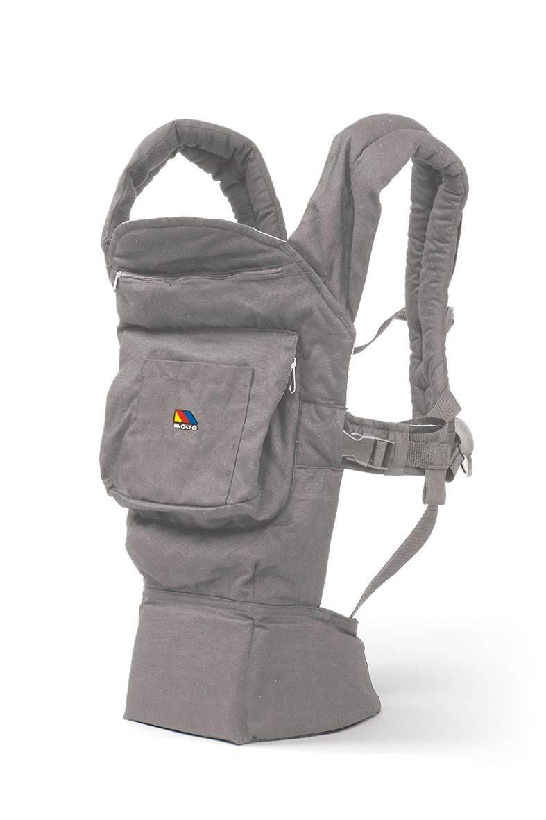 mochila ergonomica gris