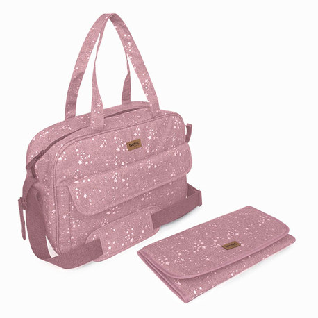 BOLSA MATERNIDAD + CAMBIADOR WEEKEND CONSTELLATION Rosa
