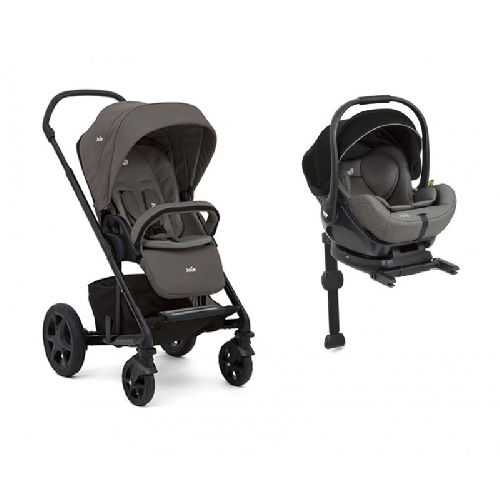 Coche duo CROME silla  I-Level con base isofix gris