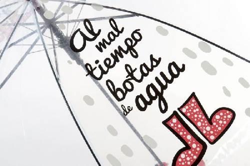 paraguas transparente AL MAL TIEMPO BOTAS DE AGUA