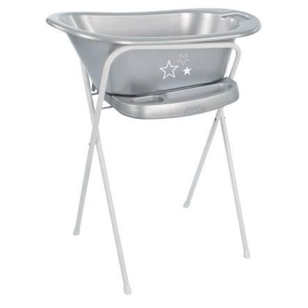 Baño con soporte plata