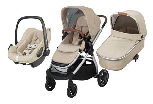 Bebe Confort ADORRA coche trio con cuco ORIA y PEBBLE PLUS  I-Size Nomad Sand