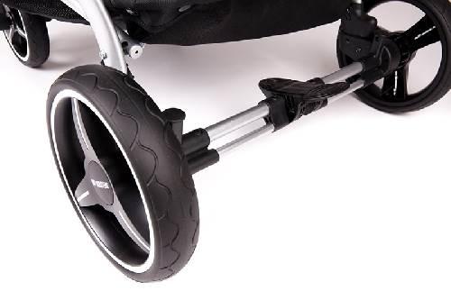 Easy twin 3.0 Coche gemelar chasis negro  2 capazos+2 sillas