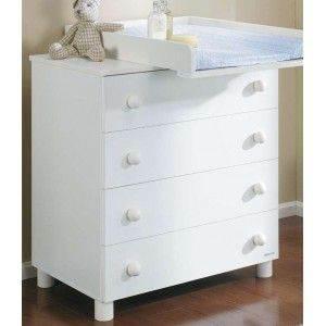 Co 1247 blanco comoda para la ropa del bebe - Comoda cambiador bebe ...