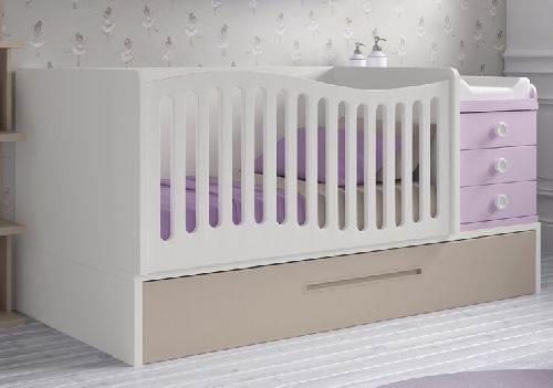 Cuna convertible en cama nido con escritorio y mesilla for Cama nido escritorio incorporado
