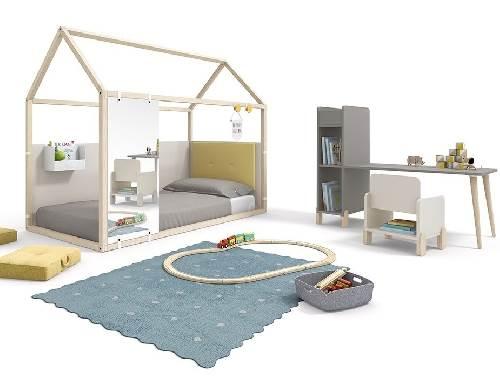 Estructura casita madera blanca