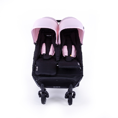 Easy twin 3S Coche gemelar chasis NEGRO  2 capazos+2 sillas
