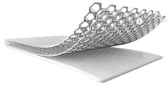 Colchón muelles-coco con protector 3D 57x117cm