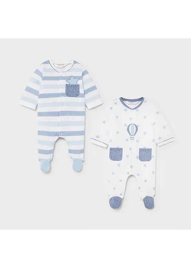 Pijama  entero  Estrellas lake blue