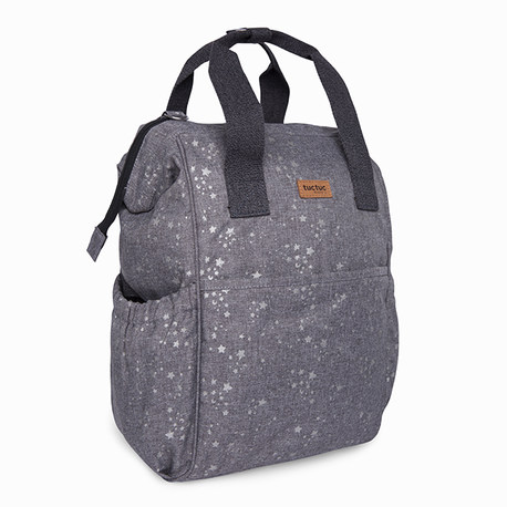 MOCHILA MATERNAL + CAMBIADOR + NECESER WEEKEND CONSTELLATION GRIS