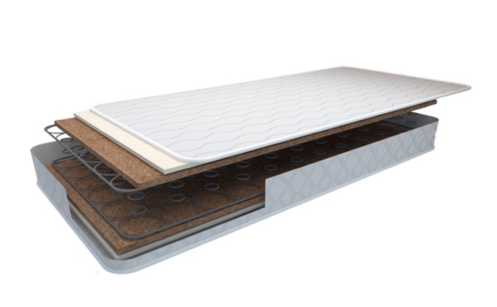 Colchón muelles-coco con protector 3D 67x137cm