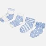 pack 4 calcetines estrellas rayas