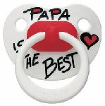 CHUPETE  -PAPA is the BEST- tetina recien