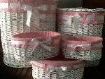 cestas ovaladas rosa