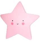 lampara estrella rosa