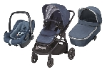 Bebe Confort ADORRA coche trio con cuco ORIA y PEBBLE PLUS I-Size Nomad blue