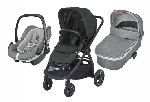 Bebe Confort ADORRA coche trio con cuco ORIA y PEBBLE PLUS  I-Size Black-Grey
