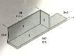estante con trasera y costado 78x24x33cm