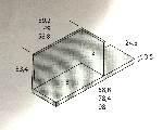 estante con trasera y costado 147x24x33cm