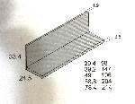 Estanteria con trasera 147x24,5cm
