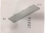 Estante pared con 3 soportes pelícano 147x24,5x3,5cm